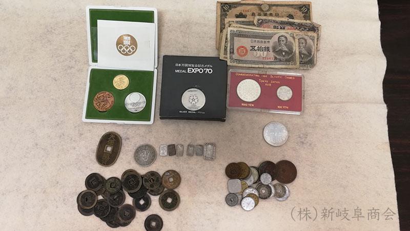 遺品整理の記念硬貨・古銭の買取