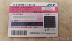全日空(ANA)株主優待割引券