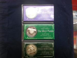 中国パンダ銀貨・1982/1983/1984